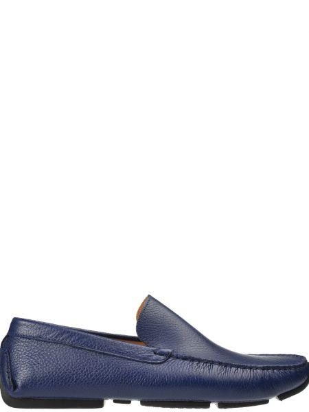 Синие мокасины кожаные Gianni Famoso