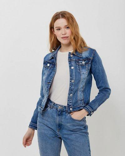 Джинсовая куртка весенняя синий G&g