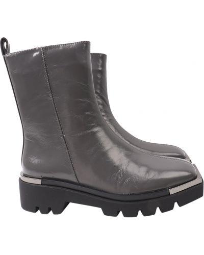Кожаные ботинки - серые Angelo Vani