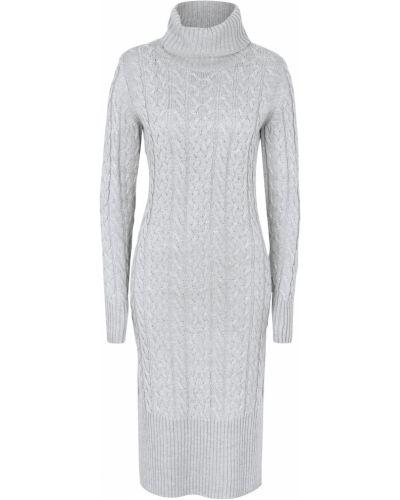 Вязаное платье макси - серое Bonprix