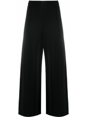 Брючные черные укороченные брюки с нашивками свободного кроя Stella Mccartney