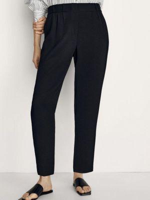 Повседневные черные брюки Massimo Dutti