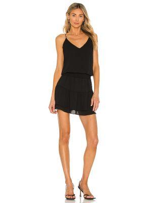 Черное шифоновое платье мини Krisa