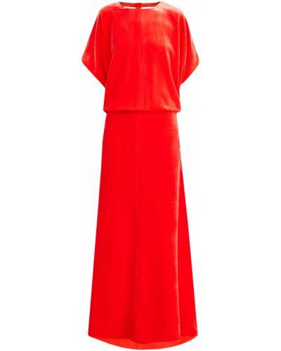 Вечернее платье макси со вставками Valentino