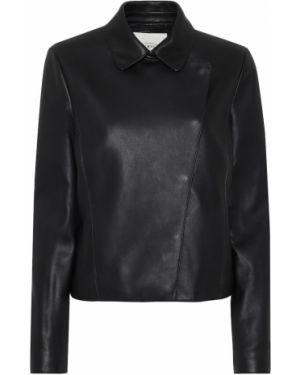 Черная кожаная куртка байкерская Tod's