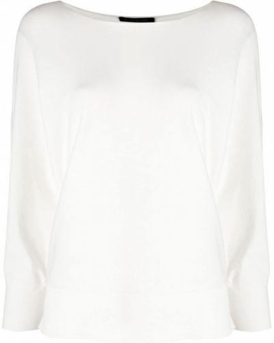 Белая кофта с вырезом Luisa Cerano