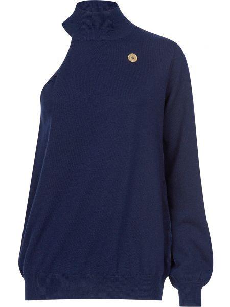 Кашемировый свитер - синий Cavalli Class