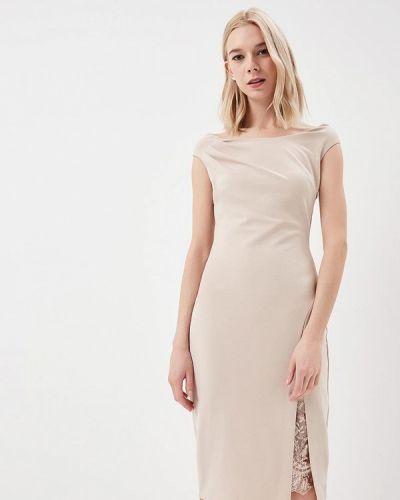 Бежевое платье весеннее City Goddess