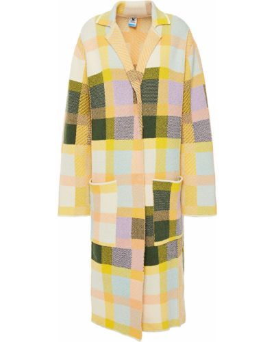 Желтое шерстяное пальто с карманами M Missoni