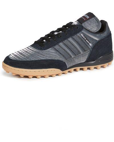 Замшевые зеленые кроссовки на шнурках Adidas