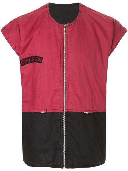 Czarna sport kamizelka bez rękawów bawełniana Issey Miyake Pre-owned