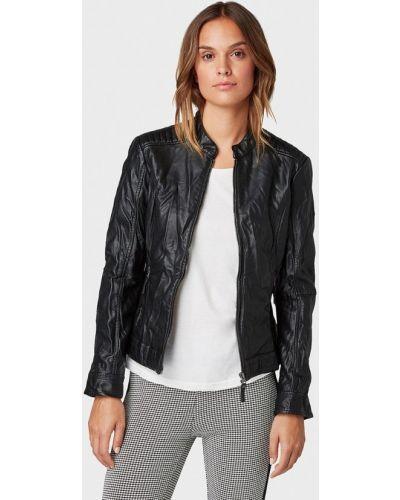 Кожаная куртка черная осенняя Tom Tailor