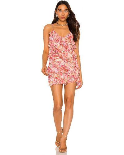 Sukienka mini z szyfonu - różowa Lovers + Friends