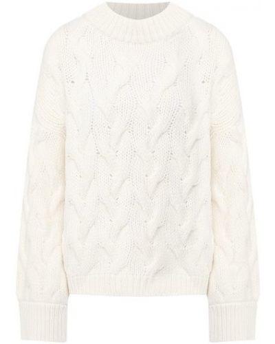 Белый кашемировый свитер Brunello Cucinelli