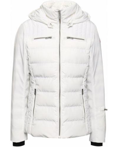 Biała kurtka pikowana z kapturem Fusalp