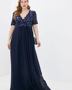 Вечернее платье - синее Goddiva Size Plus