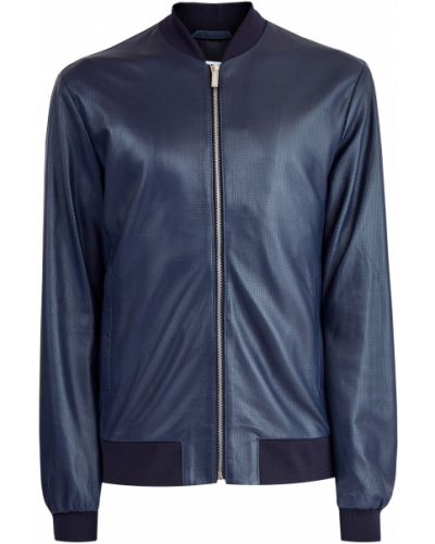 Кожаная куртка спортивная с перфорацией Bikkembergs