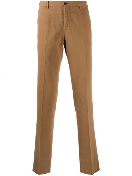 Bawełna bawełna brązowy chinosy z paskiem Pt01