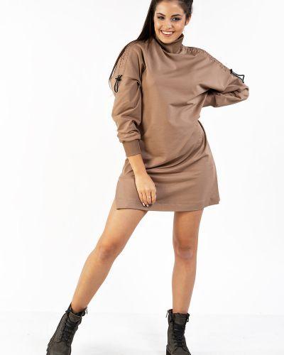 Прямое спортивное платье с длинными рукавами из футера Mari-line