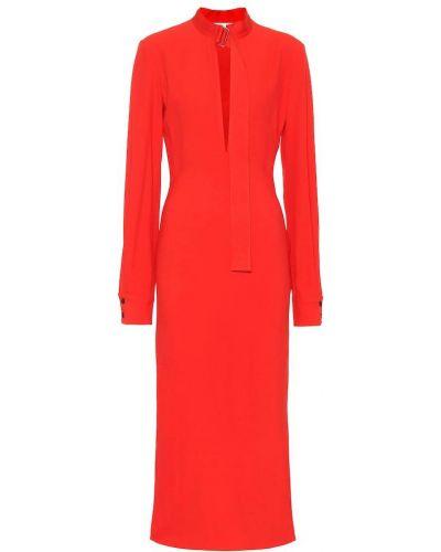 Платье миди из вискозы модерн Victoria Beckham