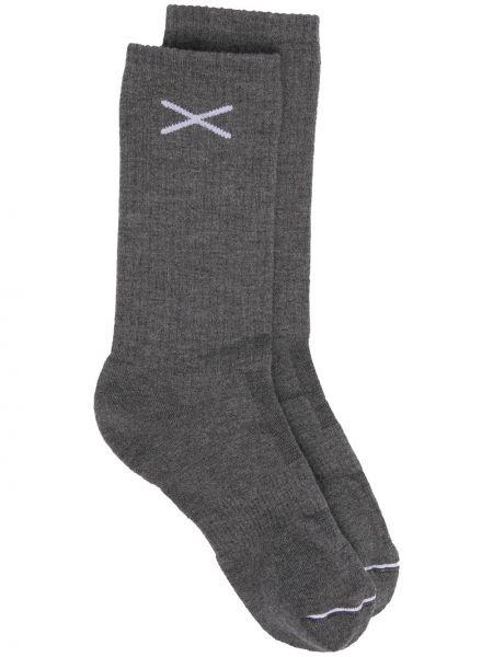 Серые кашемировые носки в рубчик Barrie