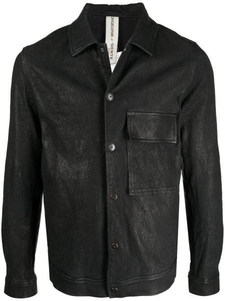 Czarna koszula bawełniana z długimi rękawami Giorgio Brato