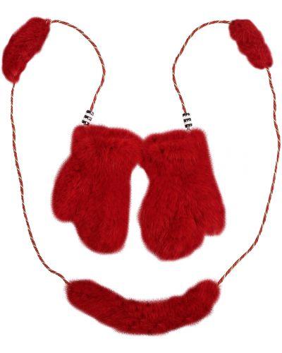 Красные варежки металлические Carolon