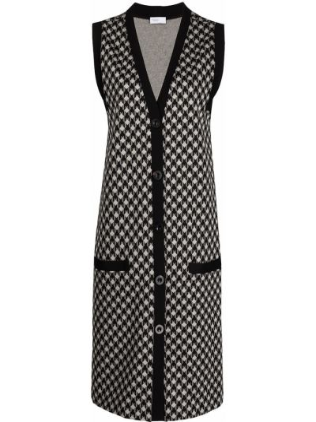 Платье с V-образным вырезом - черное Rosetta Getty