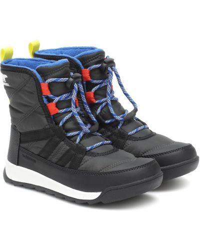 Włókienniczy czarny buty Sorel Kids