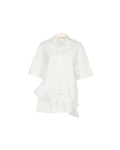 Бежевая блузка Marni