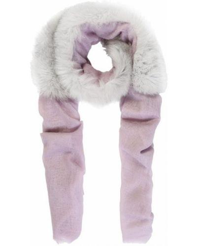 Розовый платок с мехом Vintage Shades