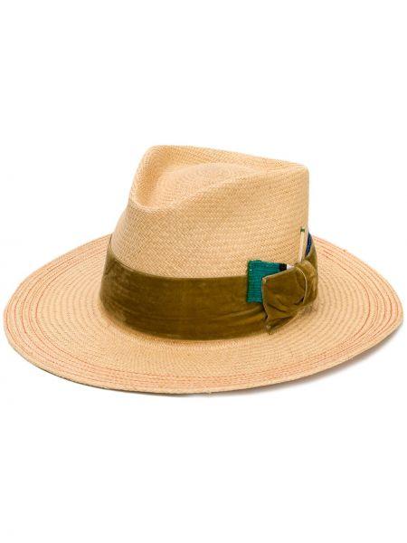 Желтая шляпа соломенная Nick Fouquet