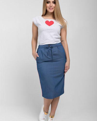 Джинсовая юбка стрейч с карманами Eliseeva Olesya
