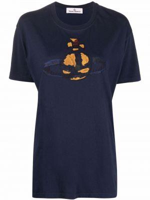 Синяя футболка с принтом Vivienne Westwood