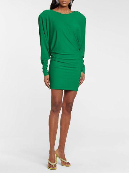 Zielona sukienka na imprezę z wiskozy Alexandre Vauthier