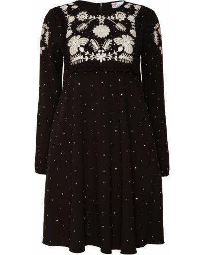 Платье мини в горошек с оборками Red Valentino