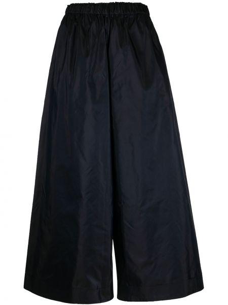 Синие шелковые свободные брюки с поясом свободного кроя Daniela Gregis