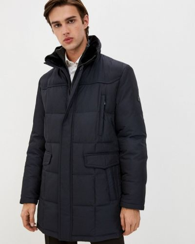 Утепленная синяя короткая куртка Bazioni