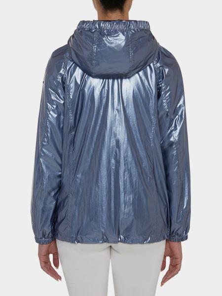 Синяя куртка с капюшоном на молнии Geox