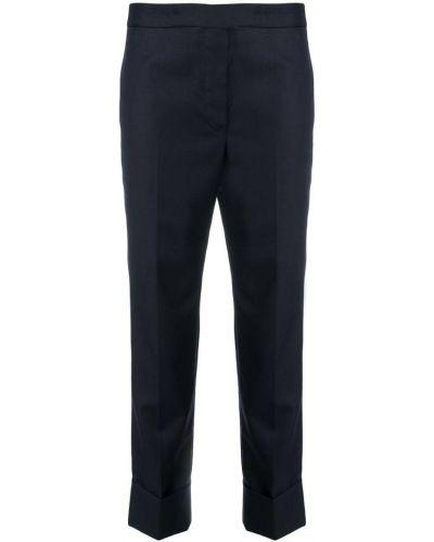 Укороченные брюки с отворотами деловые Thom Browne