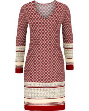 Облегающее платье с V-образным вырезом с вырезом Bonprix