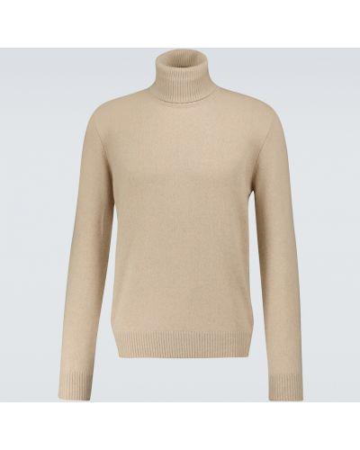 Beżowy z kaszmiru sweter Lardini