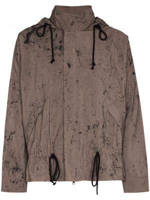 Fioletowa długa kurtka z kapturem z długimi rękawami Song For The Mute