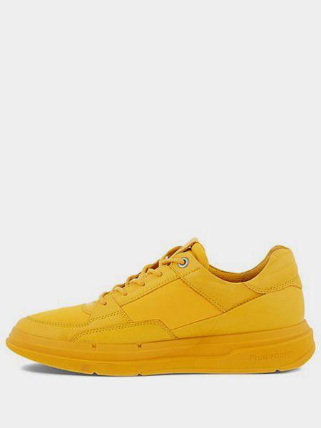 Кожаные кроссовки - желтые Ecco