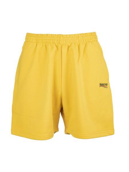 Żółte szorty Balenciaga