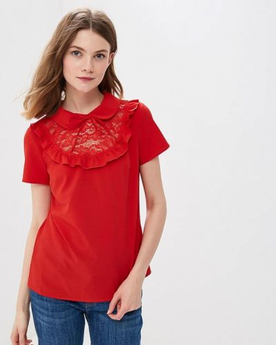 Красная блузка с рюшами Vittoria Vicci