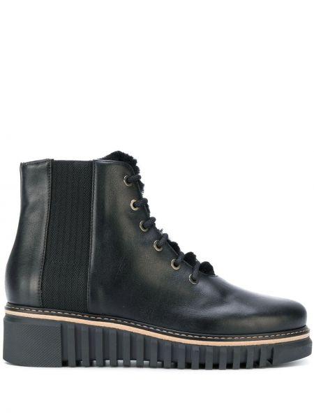 Buty na platformie czarne ażurowy Loriblu