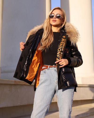 Куртка с карманами - черная Visdeer