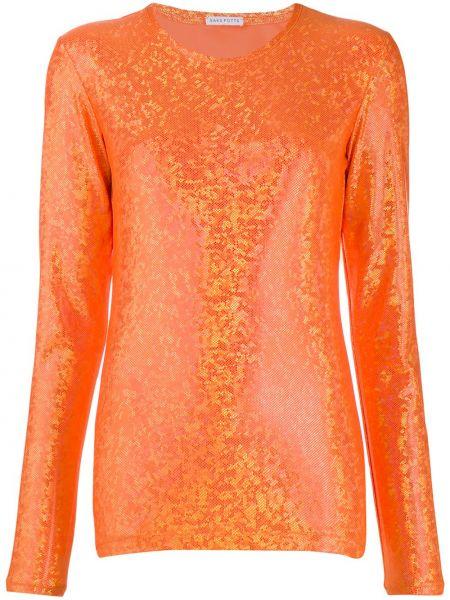 Блузка с длинным рукавом прямая с вырезом Saks Potts