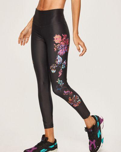 Облегающие черные брюки на резинке с поясом с открытым носком Desigual Sport